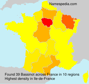 Surname Bassinot in France