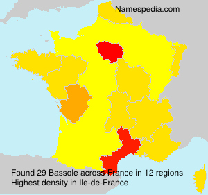 Surname Bassole in France