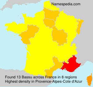Surname Bassu in France