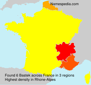 Surname Bastek in France
