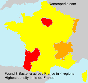 Surname Basterra in France