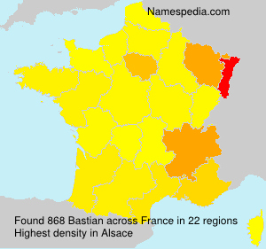 Surname Bastian in France