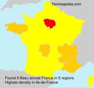 Surname Basu in France