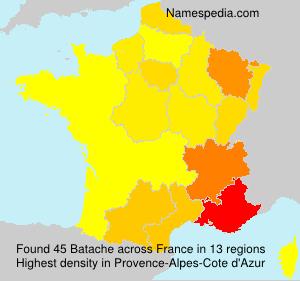 Surname Batache in France