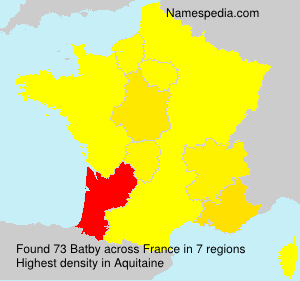 Surname Batby in France