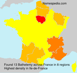 Surname Bathelemy in France