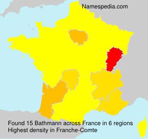 Familiennamen Bathmann - France