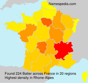 Familiennamen Batier - France