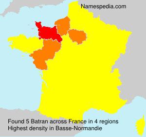 Surname Batran in France