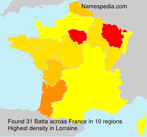 Surname Batta in France