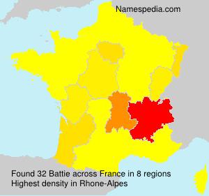 Familiennamen Battie - France