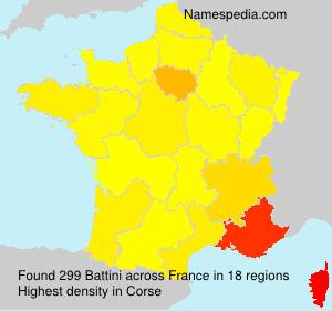 Familiennamen Battini - France