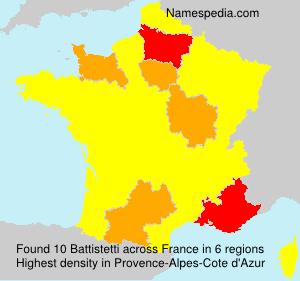 Surname Battistetti in France