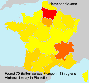Surname Batton in France