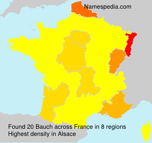 Surname Bauch in France