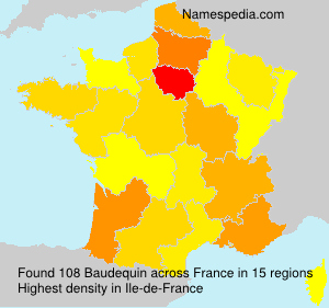 Surname Baudequin in France