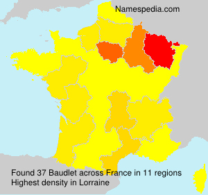 Surname Baudlet in France