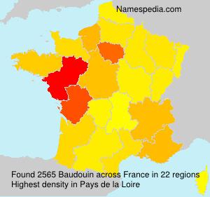 Surname Baudouin in France
