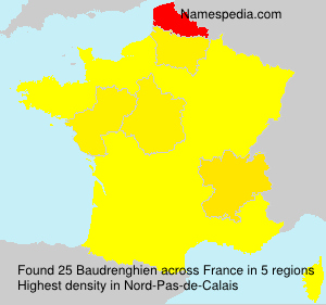 Surname Baudrenghien in France