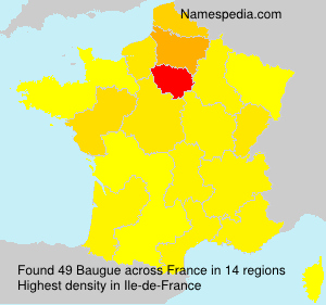 Surname Baugue in France