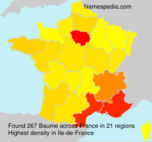 Surname Baume in France