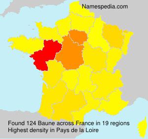 Familiennamen Baune - France