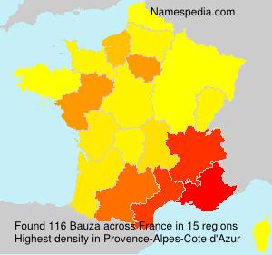 Surname Bauza in France