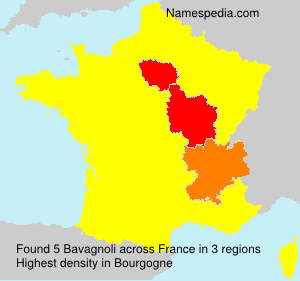 Surname Bavagnoli in France
