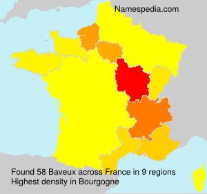 Familiennamen Baveux - France