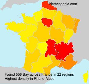 Surname Bay in France