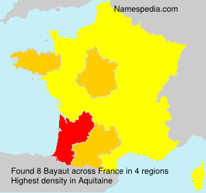 Surname Bayaut in France