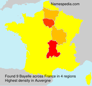 Surname Bayelle in France