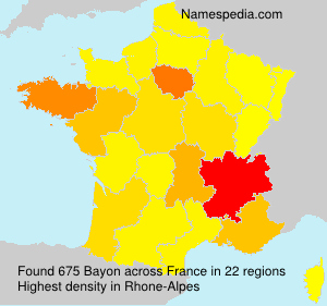 Surname Bayon in France
