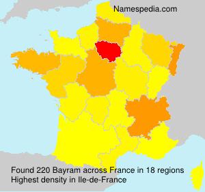 Familiennamen Bayram - France