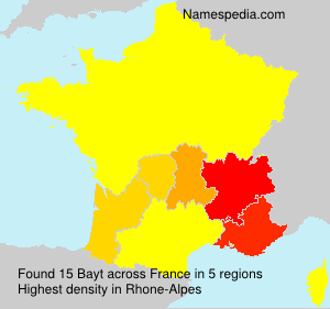 Surname Bayt in France