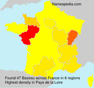 Surname Bazeau in France