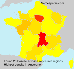 Familiennamen Bazelle - France