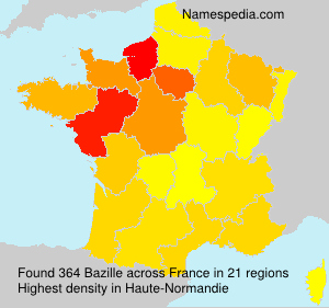 Surname Bazille in France