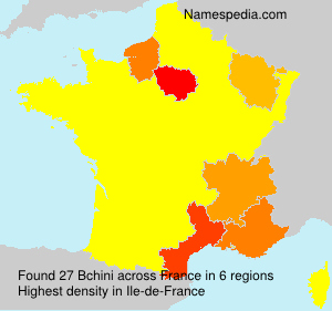 Surname Bchini in France