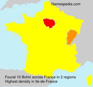 Surname Bchiri in France