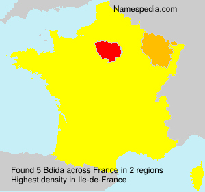 Surname Bdida in France