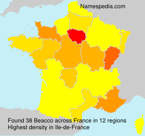 Familiennamen Beacco - France