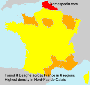 Surname Beaghe in France