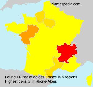 Familiennamen Bealet - France