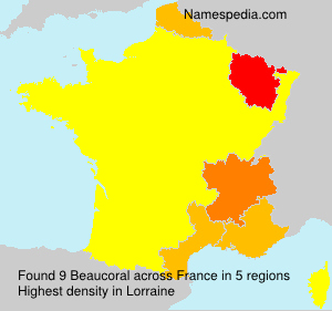 Surname Beaucoral in France