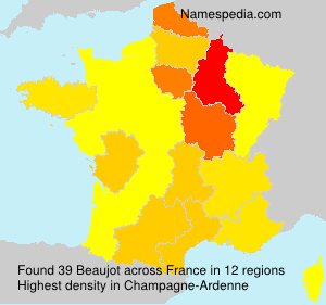 Surname Beaujot in France