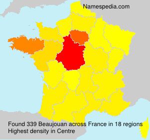 Surname Beaujouan in France