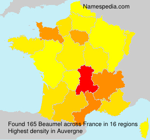 Surname Beaumel in France
