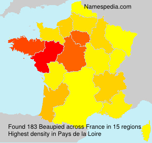 Surname Beaupied in France