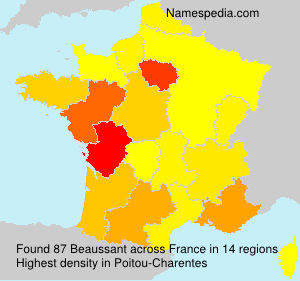 Surname Beaussant in France